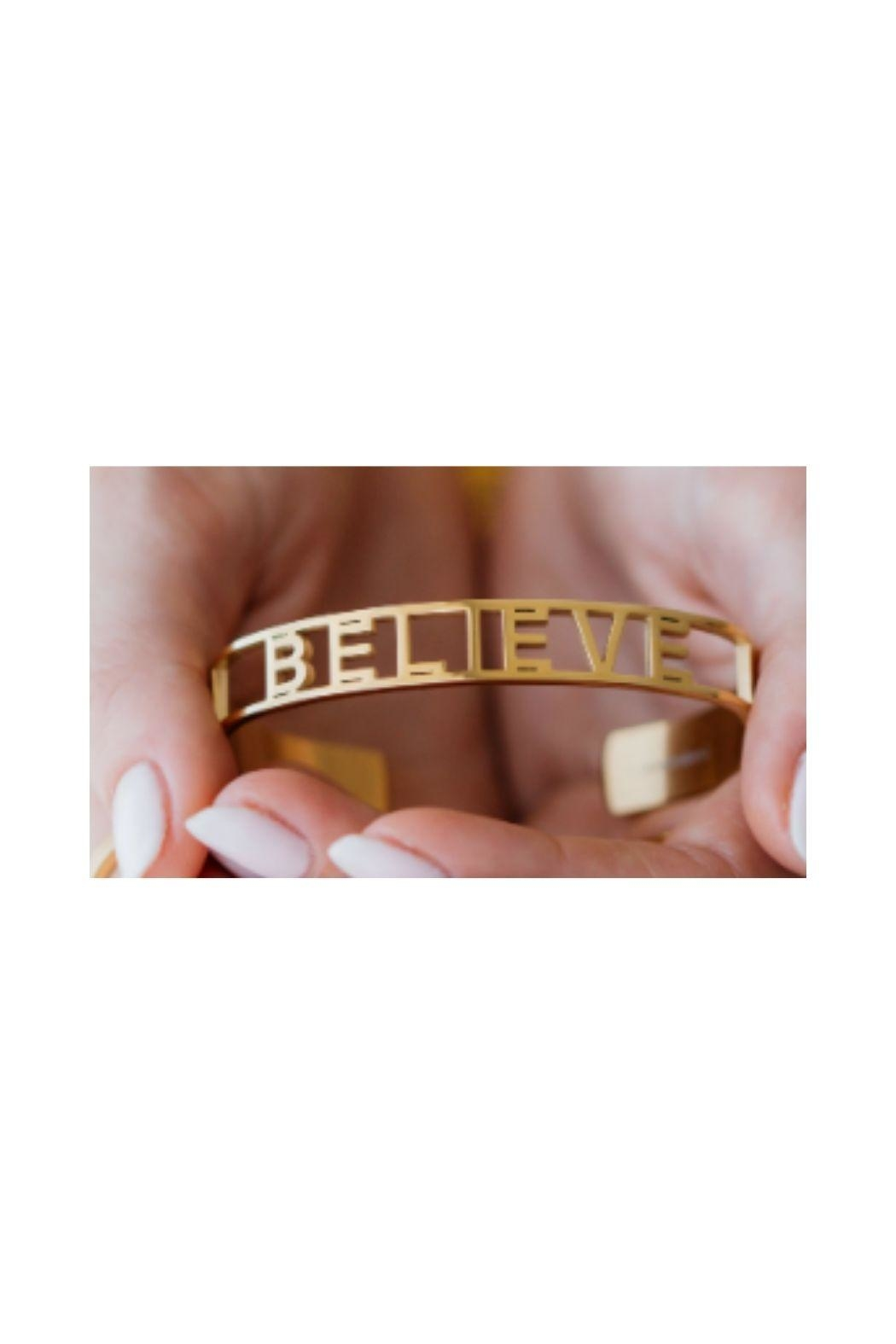 Mantraband Believe  Cuff - Front Full Image