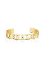 Mantraband Breathe  Cuff Gold - Product Mini Image