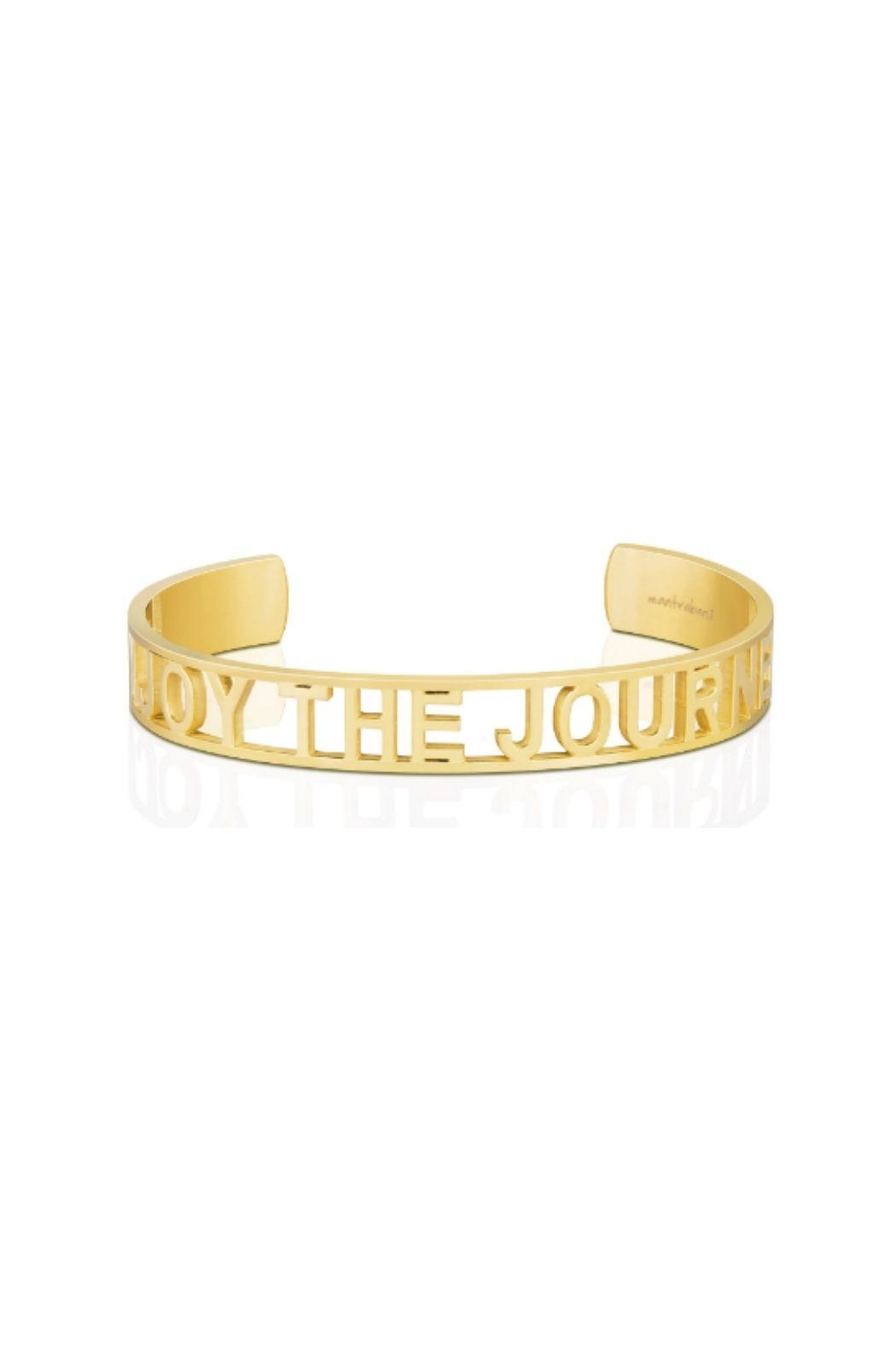 Mantraband Enjoy The Journey  Cuff - Front Cropped Image