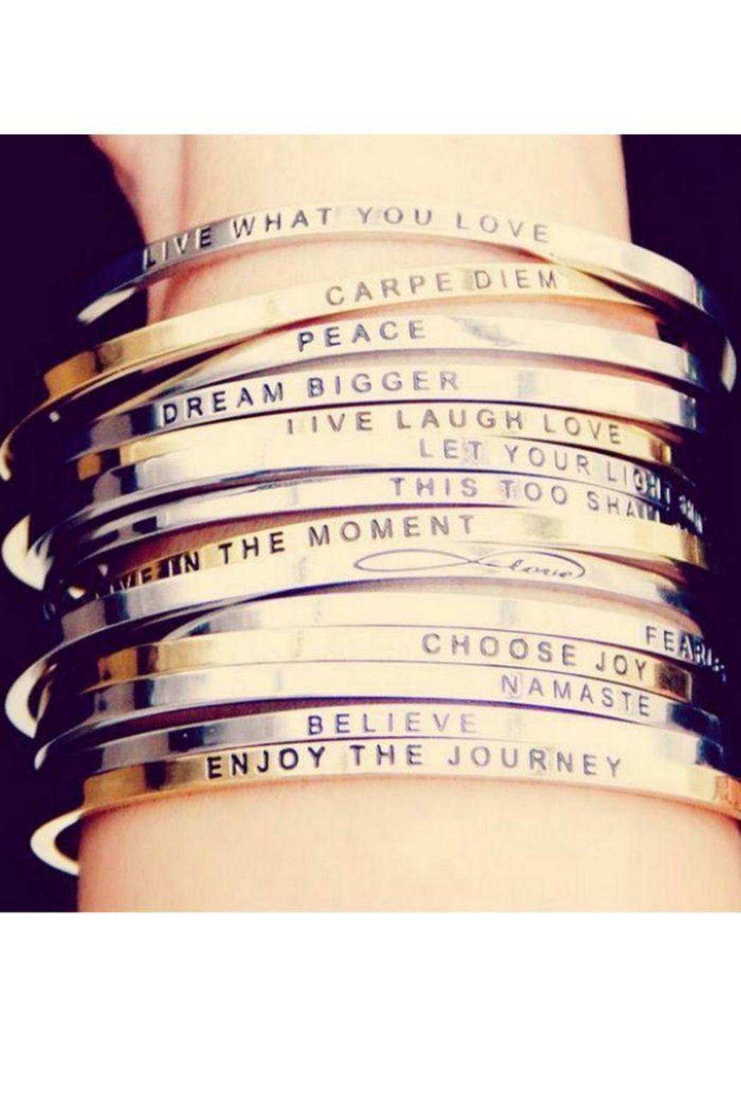 3ea34f538fd Mantraband Gold Inspirational Bracelet from New Jersey by Barefoot ...