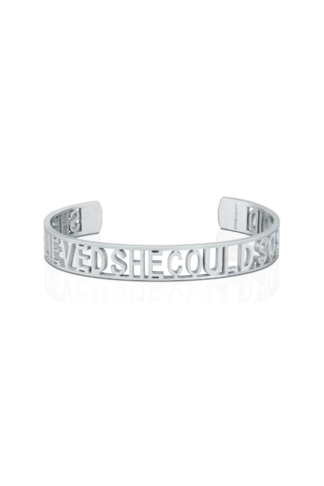Mantraband She Believe She Could  Cuff - Front Cropped Image