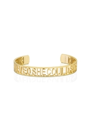 Mantraband She Believe She Could  Cuff - Front cropped
