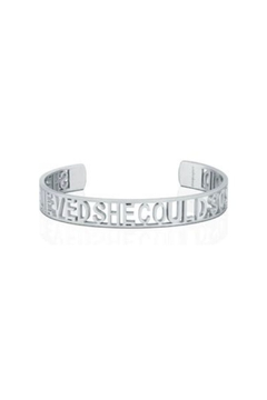 Mantraband She Believed She Could  Cuff Silver - Product List Image