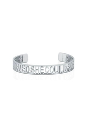 Mantraband She Believed She Could  Cuff Silver - Product Mini Image