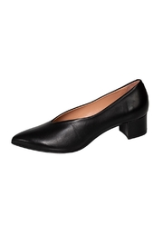 Manu Mari Black Leather Pump - Product Mini Image