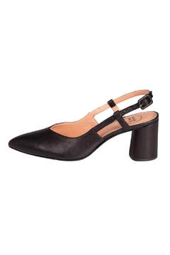 Manu Mari Black Leather Slingback - Product List Image