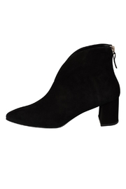 Manu Mari Black Suede Heeled-Ankle-Boot - Product Mini Image
