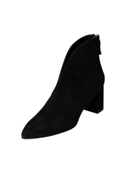 Manu Mari Black Suede Heeled-Ankle-Boot - Front full body