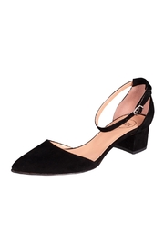 Manu Mari Black Suede Mary-Janes - Front full body