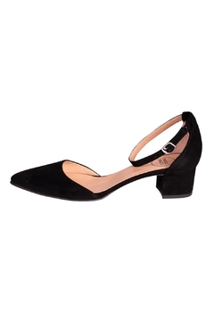 Manu Mari Black Suede Mary-Janes - Product List Image