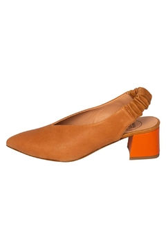 Manu Mari Block-Heeled Tan Slingback - Product List Image