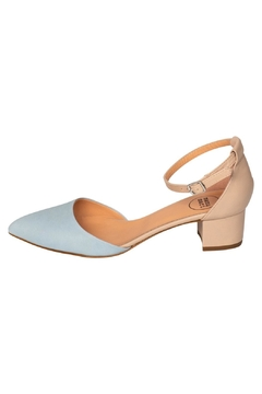 Manu Mari Blue Mary-Jane Low-Heels - Product List Image