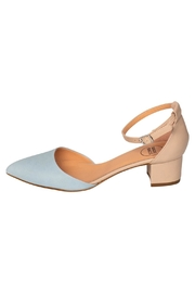 Manu Mari Blue Mary-Jane Low-Heels - Product Mini Image