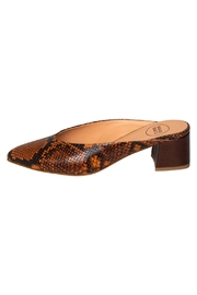 Manu Mari Brown Snakeskin Mules - Product Mini Image