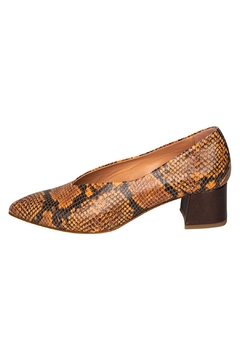 Manu Mari Brown Snakeskin Pumps - Product List Image