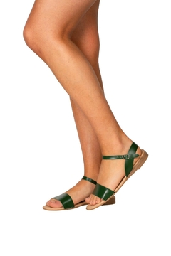 Firenze Green Leather Sandal - Alternate List Image