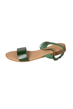 Firenze Green Leather Sandal - Product List Image
