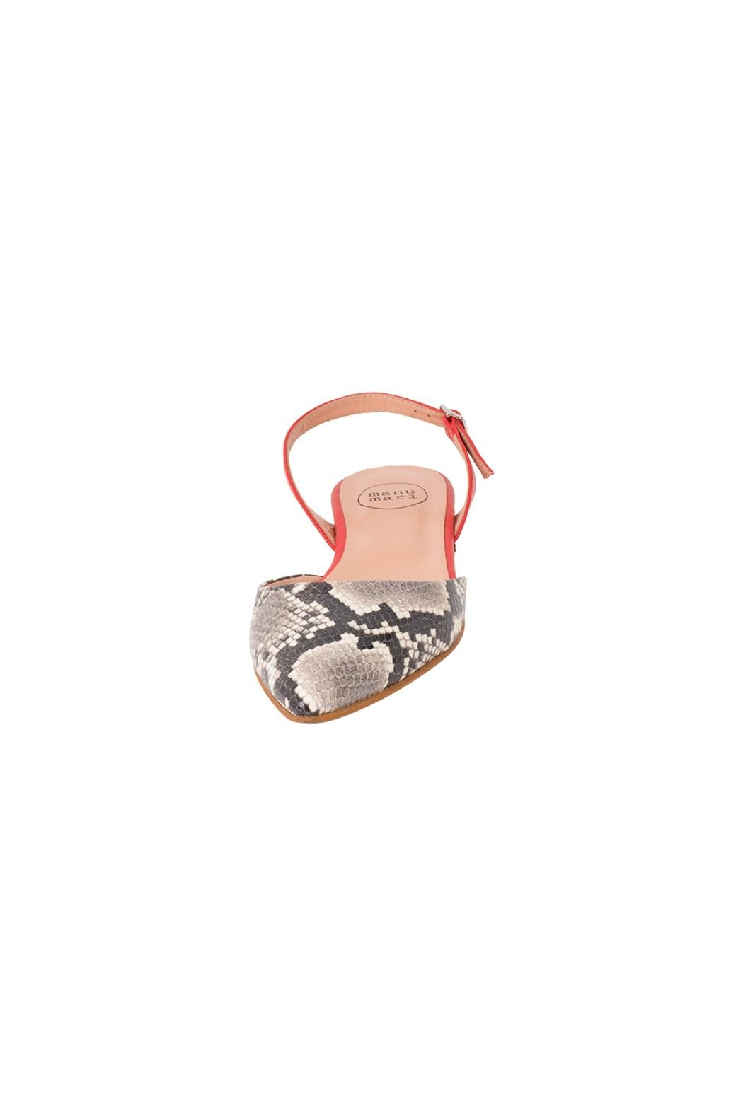 Manu Mari Leather, Snakeskin, Flat-Sandal - Side Cropped Image