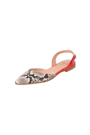 Manu Mari Leather, Snakeskin, Flat-Sandal - Front full body
