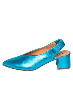 Manu Mari Metallic Blue Slingbacks - Product List Image
