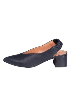 Manu Mari Navy Slingback Pumps - Product List Image