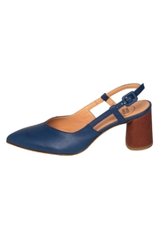 Manu Mari Navy Slingback Pumps - Product Mini Image