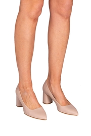 Manu Mari Nude Leather Heels - Back cropped