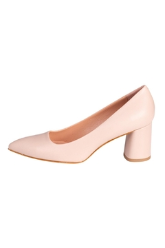 Manu Mari Nude Leather Heels - Product List Image