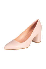 Manu Mari Nude Leather Heels - Front full body