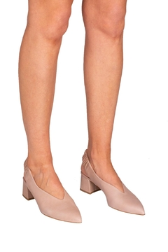 Manu Mari Nude Leather Slingbacks - Alternate List Image