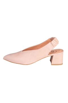 Manu Mari Nude Leather Slingbacks - Product List Image