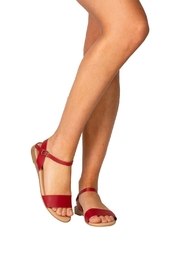 Firenze Red Leather Sandal - Back cropped