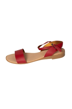 Firenze Red Leather Sandal - Product List Image