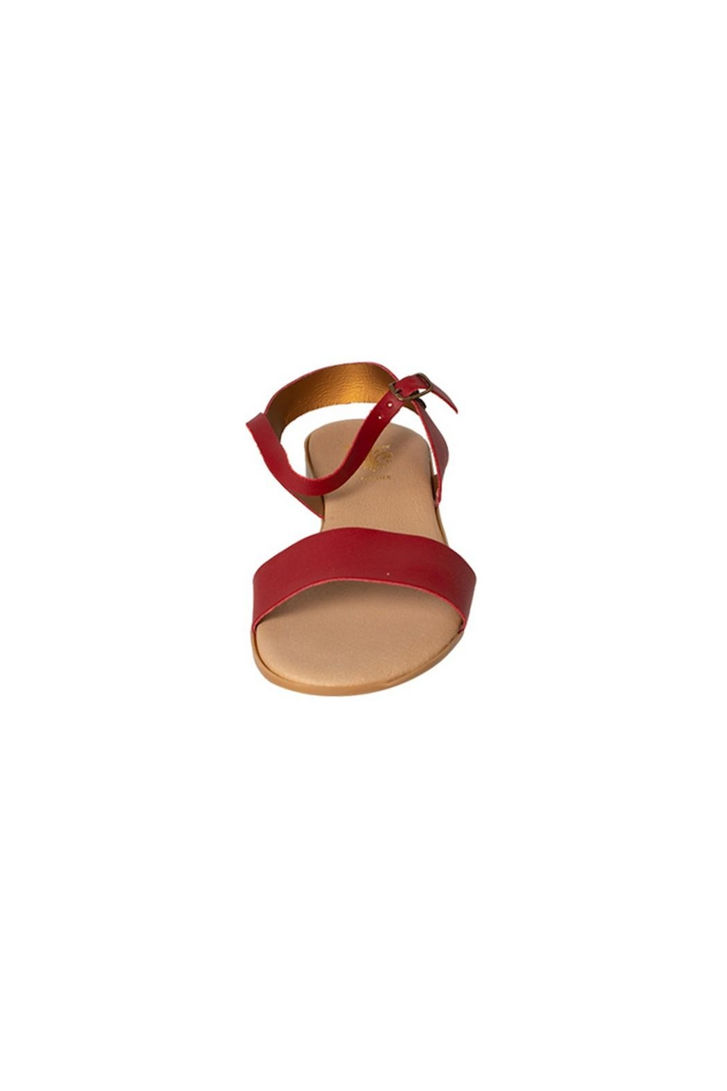 Firenze Red Leather Sandal - Front Full Image