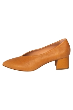 Manu Mari Sandstone Block-Heel Pumps - Product List Image
