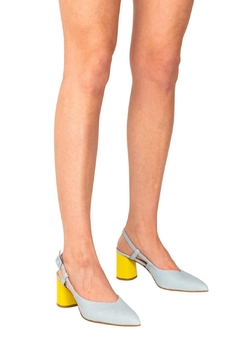 Manu Mari Sky-Blue Slingback Pumps - Alternate List Image