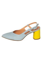 Manu Mari Sky-Blue Slingback Pumps - Product Mini Image