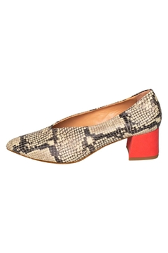 Manu Mari Snakeskin Block-Heeled Pumps - Product List Image
