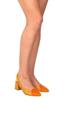 Manu Mari Tri-Colour Block-Heel Slingback - Alternate List Image