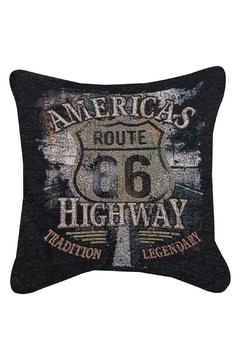 Shoptiques Product: America's Highway Pillow