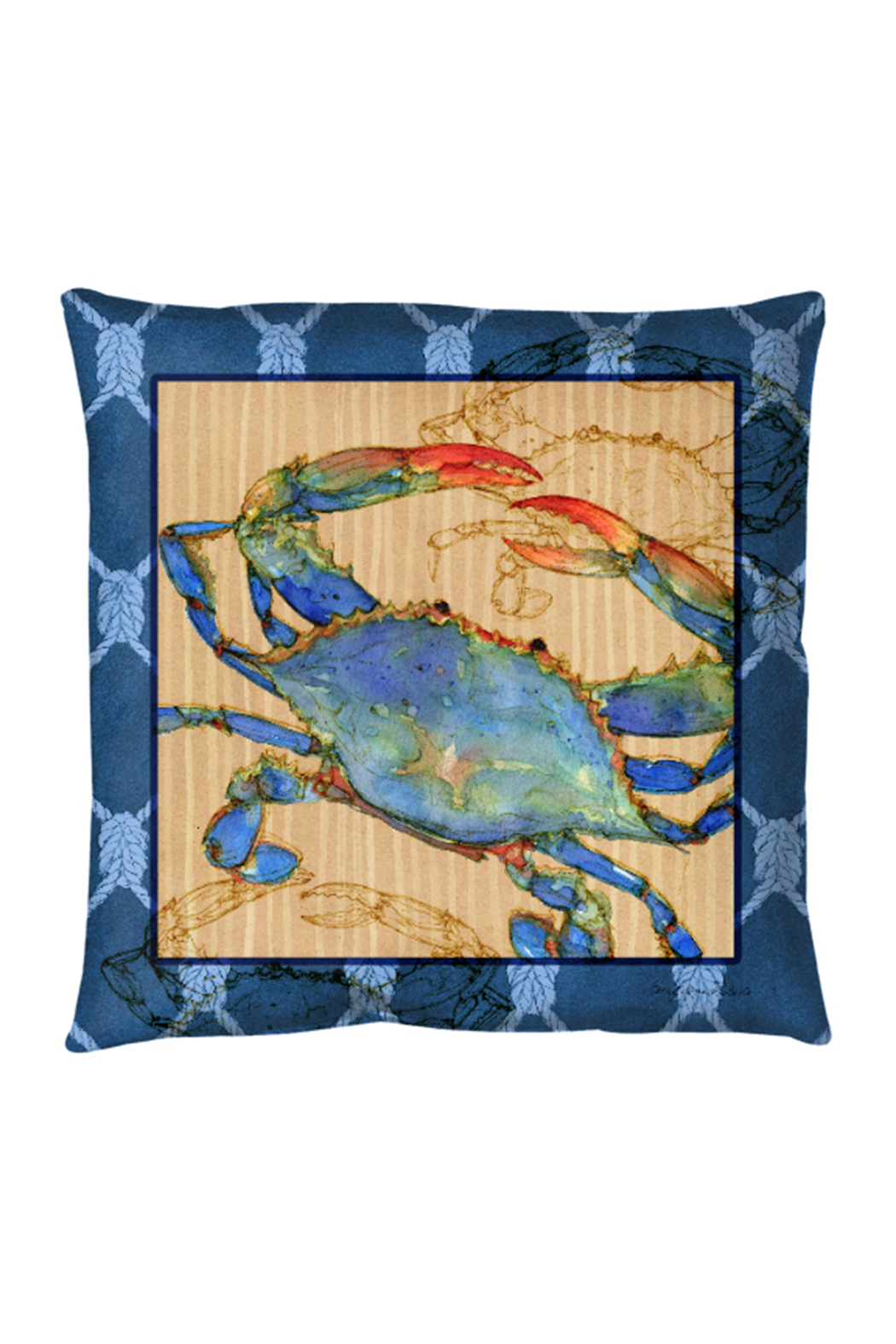 Manual Woodworkers and Weavers Crab Pillow - Main Image