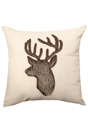 Manual Woodworkers and Weavers Deer Applique Pillow - Front cropped