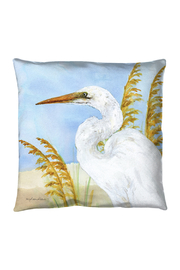 Manual Woodworkers and Weavers Egrets Pillow - Front cropped