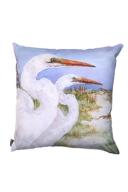 Manual Woodworkers and Weavers Two Egrets Pillow - Product Mini Image