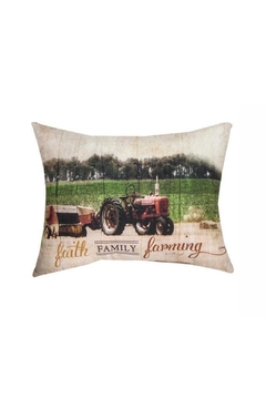 Manual Woodworkers and Weavers Faith Family Farming Pillow - Product List Image