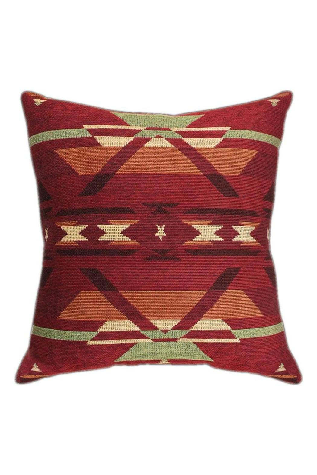 Manual Woodworkers and Weavers Flame Tapestry Pillow - Main Image