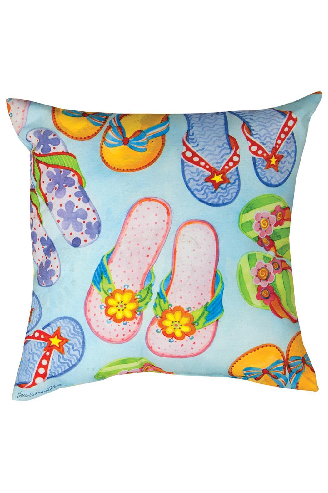 Manual Woodworkers and Weavers Flip Flops Pillow - Main Image
