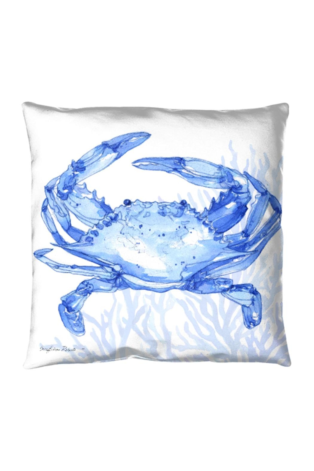 Manual Woodworkers and Weavers Indigo Crab Pillow - Front Cropped Image