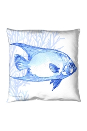 Manual Woodworkers and Weavers Indigo Fish Pillow - Product Mini Image