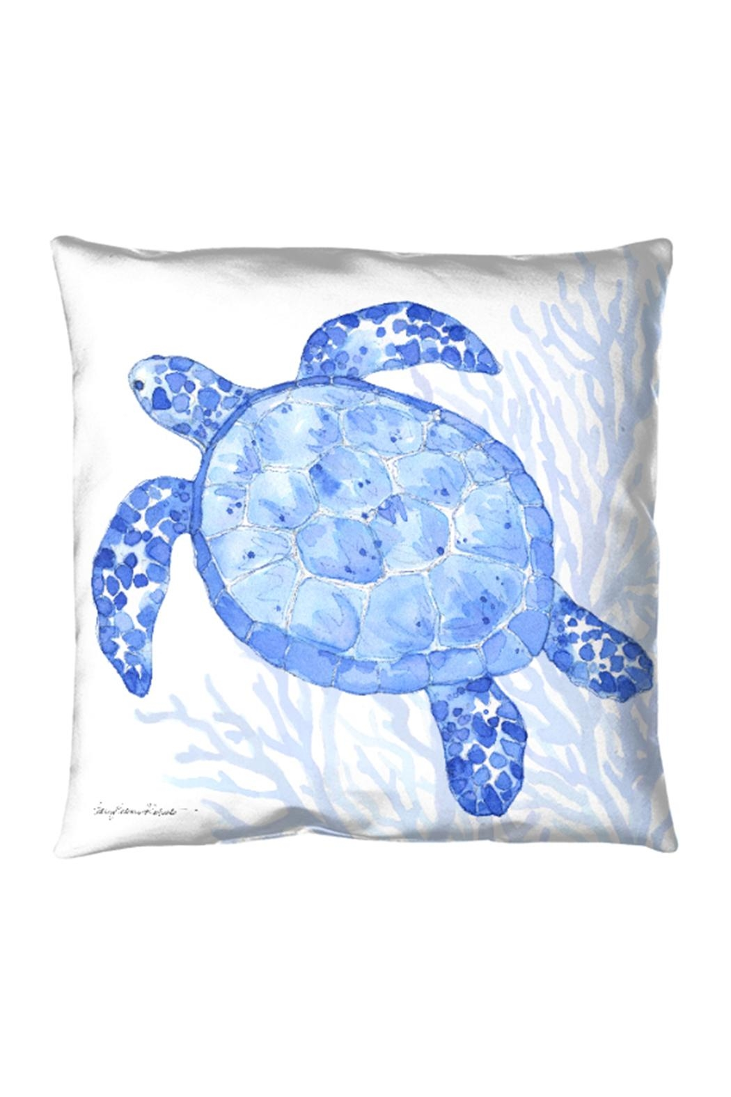 Manual Woodworkers and Weavers Indigo Turtle Pillow - Main Image